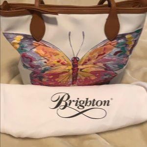 Brighton coated canvas shoulder bag